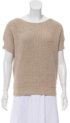 Brunello Cucinelli Knitted Short Sleeve Top