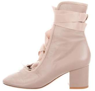 Valentino Round-Toe Ankle Boots