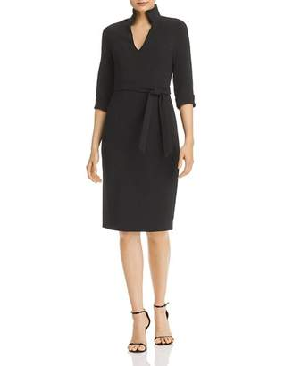 Black Halo Madeline Belted Sheath Dress