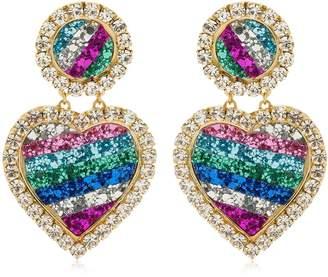 Shourouk Mini Marilyn Rainbow Clip-On Earrings