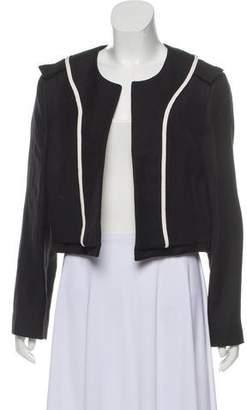 Chloé Open Front Linen-Blend Jacket