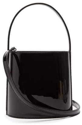 Staud - Bissett Patent Leather Bucket Bag - Womens - Black