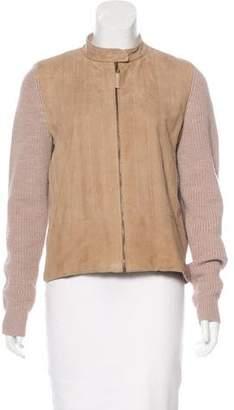 Tory Burch Suede-Paneled Wool Jacket