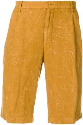 Etro paisley chino shorts