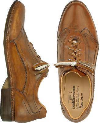 Pakerson Brown Italian Handmade Leather Lace-up Shoes