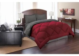 Elegant Comfort Down Alternative 3pc Comforter Set-Full/Queen, Turqouise/White
