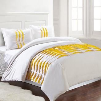 Isabella Collection Pacific Coast Textiles 3PC 100% COTTON PINCH PLEAT DUVET SET