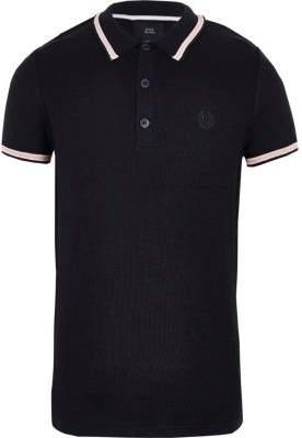 River Island Boys navy pique polo shirt