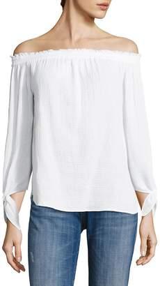 Generation Love Women's Cynthia Off-The-Shoulder Cotton Gauze Top