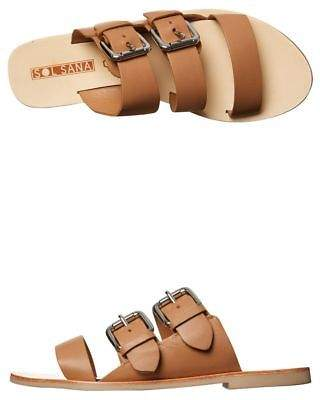 Sol Sana New Women's Womens Foster Slide Synthetic Leather Brown