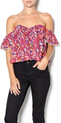 Cotton Candy Floral Sweetheart Top $46 thestylecure.com