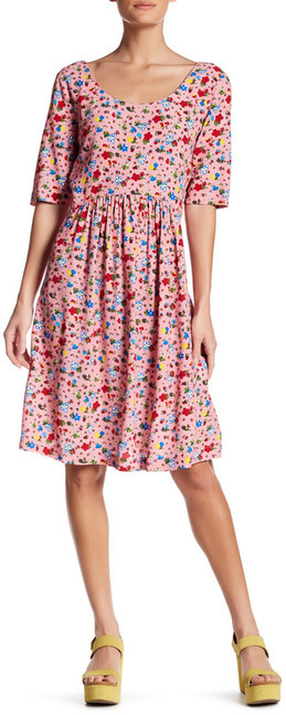 Love MoschinoLOVE Moschino Scoop Neck Floral Dress
