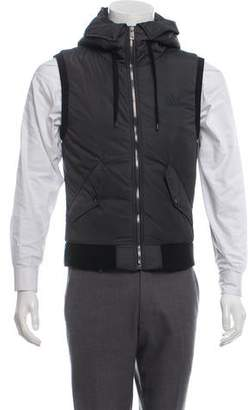 Dolce & Gabbana Hooded Zip-Up Vest