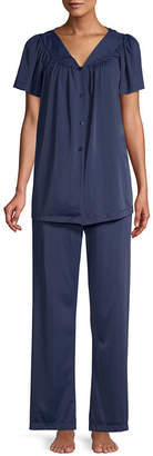 Miss Elaine COLLETTE BY Collette By 2-pc. Tricot Pant Pajama Set