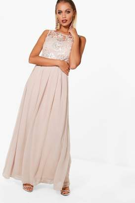 boohoo Boutique Ali Embellished Top Maxi Dress