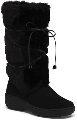 Made In Italy Leather Winter Boots With Shearling