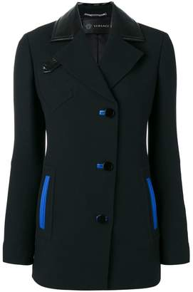 Versace blue accented jacket