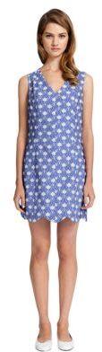 Cynthia Steffe CECE BY Caroline Geo Floral Print Scalloped Dress