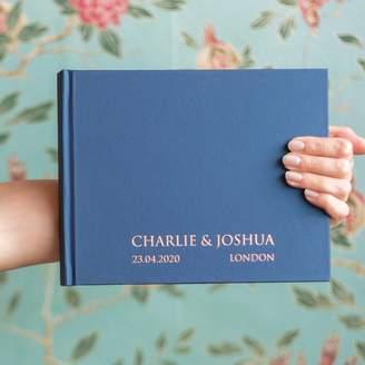 BeGolden Contemporary Bespoke Wedding Guest Book
