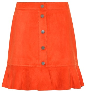 b5f603196 Red Suede Skirt - ShopStyle