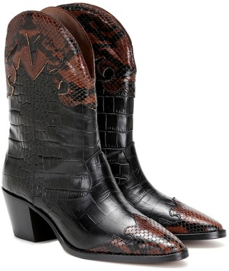 Paris Texas Snake-effect cowboy boots