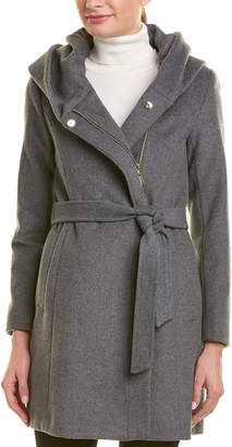 Cole Haan Wool Wrap Coat