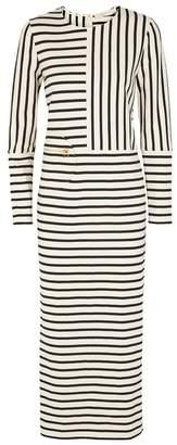 Tory Burch Harlie Striped Jersey Maxi Dress