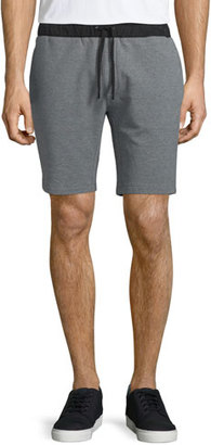 Michael Kors Cotton-Stretch Sweat Shorts, Dark Gray $125 thestylecure.com