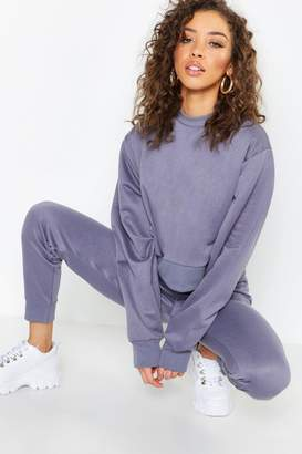 boohoo Crew Neck Cropped Sweat