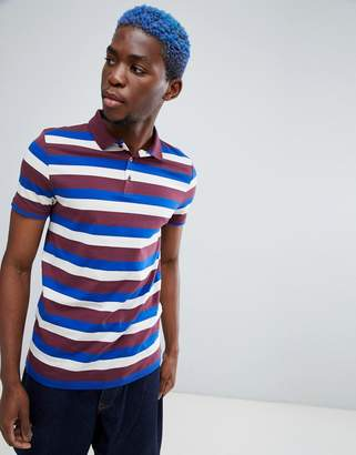 Asos Design DESIGN polo with retro stripe