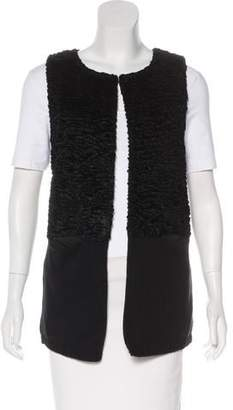 Calvin Klein Collection Textured Rib Knit Vest