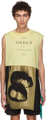 Raf Simons Yellow Joy Division Print Long T-Shirt