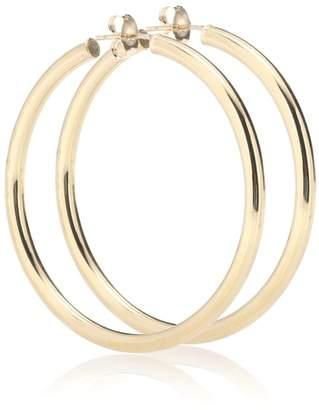Loren Stewart Medium Thick Tube Hoops 10kt gold earrings
