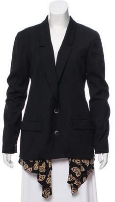 Thakoon Wool Silk-Accented Blazer