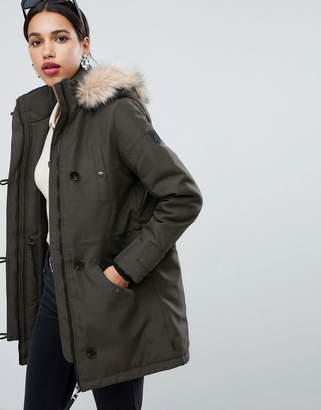 Vero Moda faux fur hooded parka