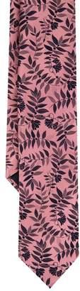 Duchamp London LONDON Pink Tropica Floral Silk Tie