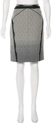 Zac Posen Lace-Trimmed Knee-Length Skirt
