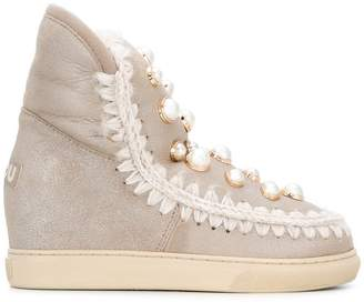 Mou inner wedge sneaker boots