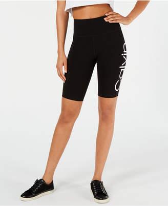 Calvin Klein Logo High-Waist Bike Shorts