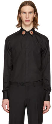 Dolce & Gabbana Black Crown Martini Fit Shirt