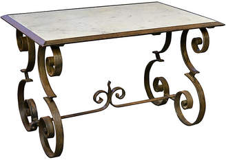 One Kings Lane Vintage French Iron Coffee Table - Chez Marie Antiques