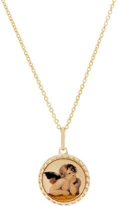 "Italian Gold Cherub Pendant on 18"" Chain, 14K Gold"