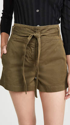 Veronica Beard Jean East Tie Waist Shorts