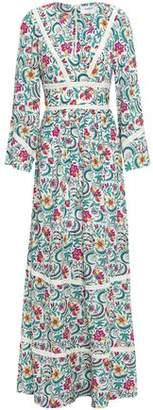 BA&SH Heren Floral-print Voile Maxi Dress