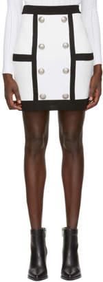 Balmain White Tube Miniskirt