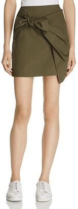 Lush Tie-Front Mini Skirt $62 thestylecure.com