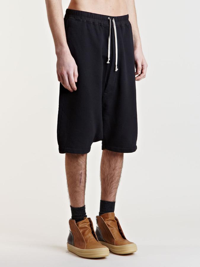 Rick Owens Men's Jersey Pod Shorts