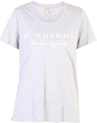 Burberry Grey Branded T-shirt