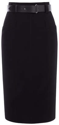 Karen Millen Leather Belt Pencil Skirt
