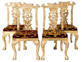 Versace Giltwood Dining Chairs